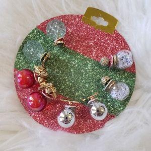 B2G1 NWT Christmas Holiday Ornament Earrings